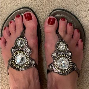 Great pewter sandal . Size 7.5